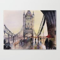 Sunset Over London Canvas Print