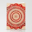 omulyána red gallery mandala Stationery Cards