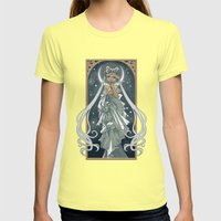 The Moon and Stars Womens Fitted Tee Lemon SMALL