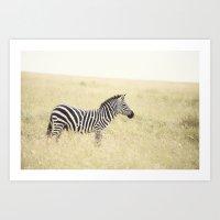 be still::kenya Art Print