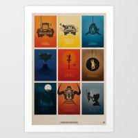 Spielberg Movies Art Print