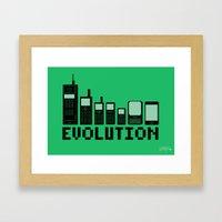 Cell Phone Evolution Framed Art Print