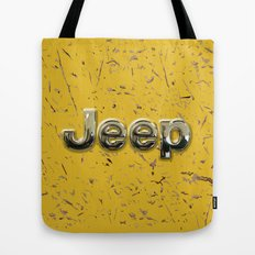 muddy yellow Jeep with chrome typograph iPhone 4 4s 5 5c 6, pillow case, mugs and tshirt Tote Bag