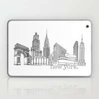 NYC Landmarks By The Dow… Laptop & iPad Skin