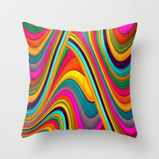 Acid Throw Pillow