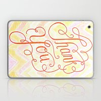 Thank You - Hand Lettere… Laptop & iPad Skin