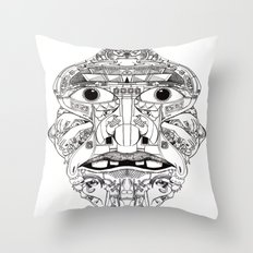 Psychedelic Mask 01  Throw Pillow