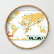 The World is a Book Wall Clock