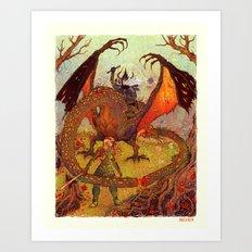 Eowyn vs Nazgul Art Print