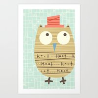 Mr.Hooti Art Print