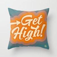 Get High 2 Throw Pillow