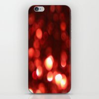 Red Blurred Lights iPhone & iPod Skin