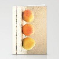 3 Apricots Stationery Cards