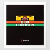 8-Bit Champion Art Print