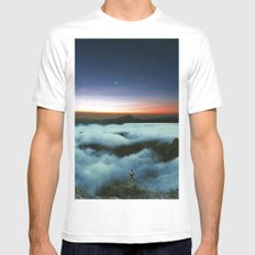 Horizons White SMALL Mens Fitted Tee