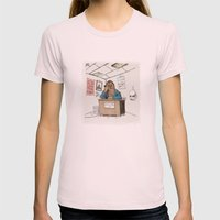 Chewwie At Work Womens Fitted Tee Light Pink SMALL