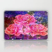 Roses with sparkles and purple infusion Laptop & iPad Skin
