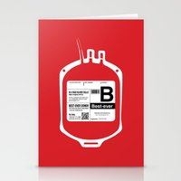 My Blood Type Is B, For … Stationery Cards