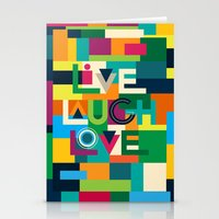 LIVELAUGHLOVE v1 Stationery Cards