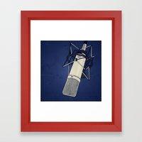 Neumann u87 Framed Art Print