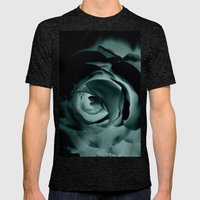 DARK ROSE Mens Fitted Tee Tri-Black SMALL