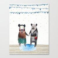 Mr & Mrs Bear Canvas Print
