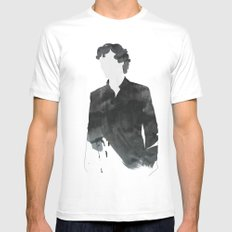 Sherlock SMALL White Mens Fitted Tee