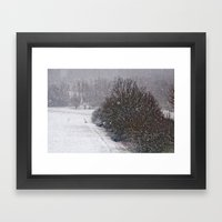 Snow Is Falling Framed Art Print
