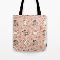 Tote Bag featuring Goat Pattern 2 by Gwendolyn Wood