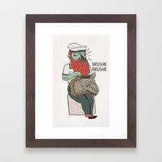 brushie brushie Framed Art Print