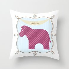 Fun at the Zoo: Zebra Throw Pillow