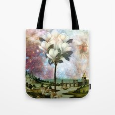 The Angel and the Magnolia tree Tote Bag