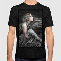 Mermaid at Midnight Mens Fitted Tee Tri-Black SMALL