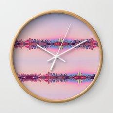 San Francisco Skyline Pattern Wall Clock