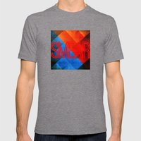 Smear 1 Mens Fitted Tee Tri-Grey SMALL