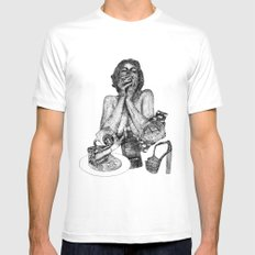Vogue Mens Fitted Tee SMALL White