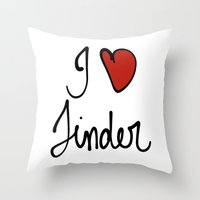 Tinder Throw Pillow