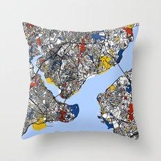Istanbul Mondrian Throw Pillow