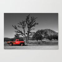That Red Truck Canvas Print