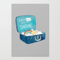 Always Bring Your Own Su… Canvas Print