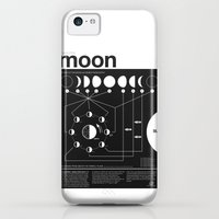 iPhone 5c Cases featuring Phases of the Moon infographic by Nick Wiinikka