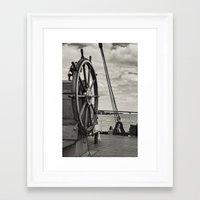 Ship's Wheel Framed Art Print