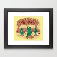 Rock The Forest Framed Art Print