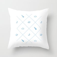 Simple Space Throw Pillow