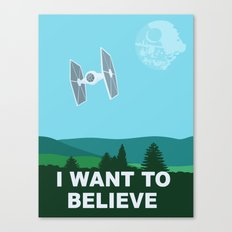 I WANT TO BELIEVE - Star… Canvas Print