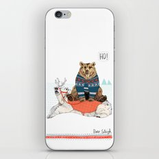 Bear Sleigh iPhone & iPod Skin