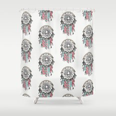 Dream Big dreamcatcher art decor poster dorm college kids children  Shower Curtain
