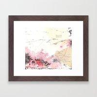 Traces (IV) Framed Art Print
