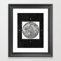 Moon Scale [Sans Black] Framed Art Print