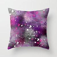Spotty Blur Throw Pillow